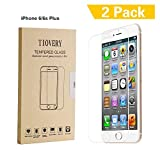 TIOVERY iPhone 6 Plus Screen Protector  Tempered Glass Screen Protector for Apple iPhone 6 Plus and iPhone 6s Plus (2-Pack)