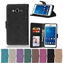 G530 Flip Case, Galaxy Grand Prime case, Samsung Galaxy Grand Prime Case Cover,YiLin PU Leather Flip Folio Wallet Case Cover for Samsung Galaxy Grand Prime - BLACK