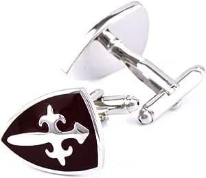 Icufflink Gemelos para Hombres, Escudo Cruz Forma Totem ...