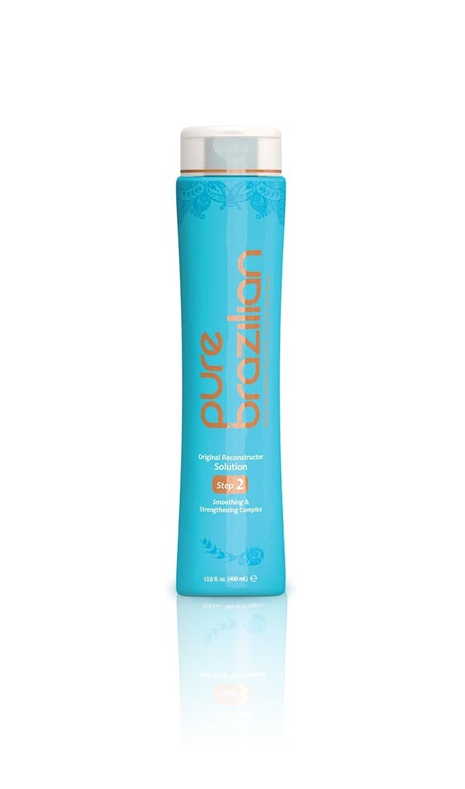Pure Brazilian - Original Reconstructor Solution- Professional Smoothing And Strengthening Complex With Keratin, Cocoa, And Acai (13.5 Ounce)