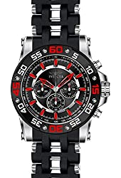 Invicta Men's Sea Spider Black Polyurethane Band Steel Case Swiss Quartz Analog Watch 22474