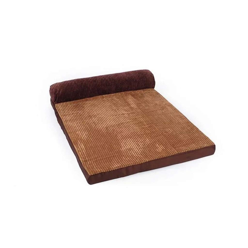 L Jlxl Pet Dog Bed,Indoor Medium Dog Bed Washable Kennel With Pillow Zipper Brown (Size   L)