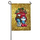 Yex Smurfs Christmas Fall In Love Decorative Garden Flag Pub Banner