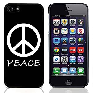 Graphic4You Peace Sign Design Hard Case Cover for Apple iPhone 5 & 5S (Black)