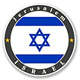 2 x 30cm- 300mm Jerusalem Israel Vinyl SELF ADHESIVE STICKER Decal Laptop Travel Luggage Car iPad Sign Fun #5618