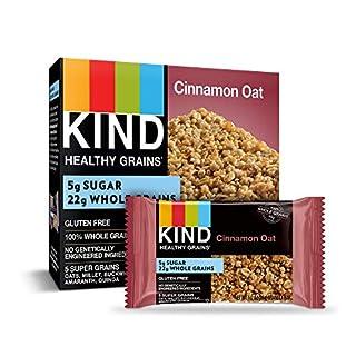 KIND Healthy Grains Bars, Cinnamon Oat, Gluten Free, 1.2 oz, 5 Count (6 Pack)