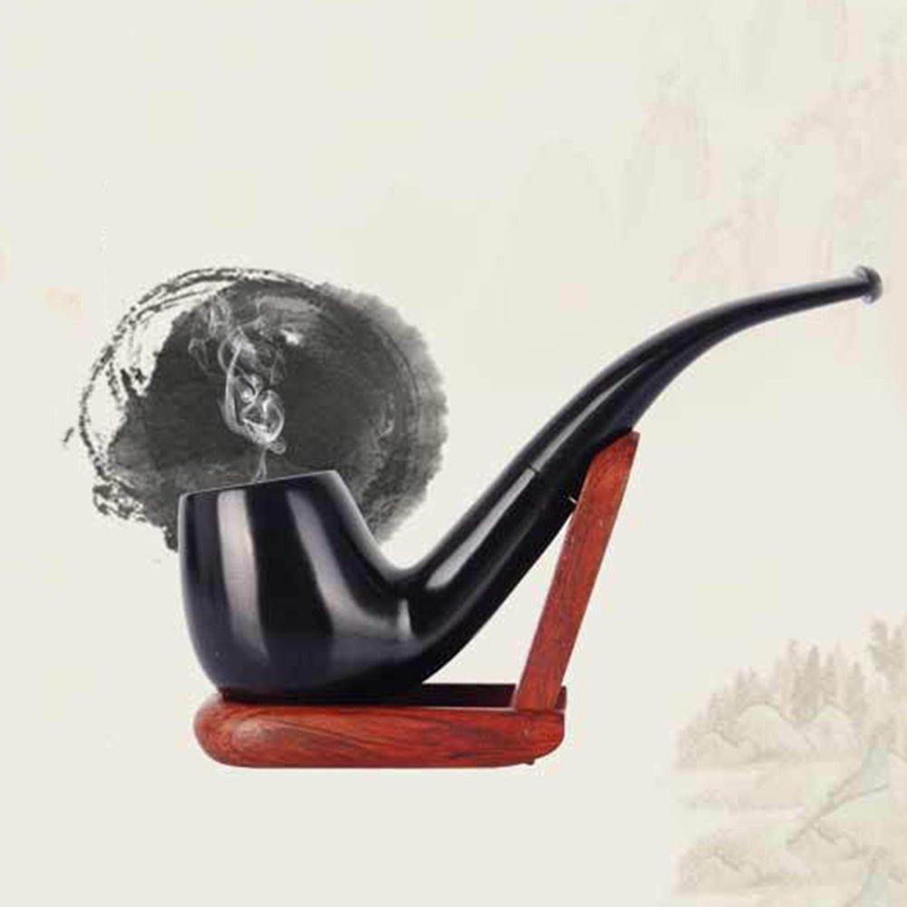 UrChoiceLtd/® le tabac Tuyau de fum/ée Classique Brwon 508 /éb/ène Filtre 9MM /Él/ément Tabac en bois Fumeur Pipe de propri/ét/é Pipes /Éb/ène encercl/é Meilleur pour Cadeau Fait main
