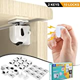 BigRoof CA-012 Child Safety Cabinet Lock Newest Version Heavy Duty Drawer Drill Proof Latch Baby, 10 pack