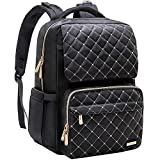 Diaper Bag Backpack, Bamomby Multi-Function Waterproof Travel Backpack Nappy Bags for Mom,Dad with Insulated Pockets, Changing Pad, Newborn Diapers Baby Shower Gifts for Boys,Girls-Black