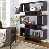 """InRoom Designs 63"""" Tall 3-Tier Cube Unit Bookcase, Espresso"""