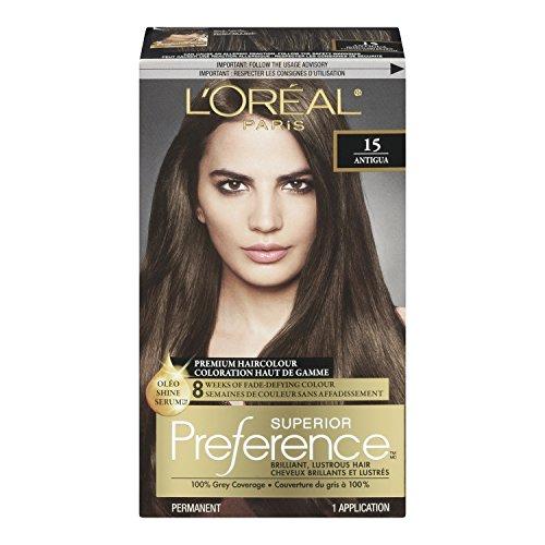loreal paris superior preference premium haircolour 15 antigua medium ash brown amazonca beauty - Coloration Preference