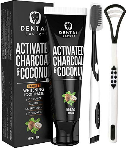 ACTIVATED CHARCOAL WHITENING TOOTHPASTE Destroys product image