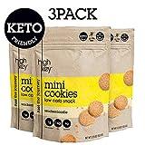 HighKey Snacks Keto Mini Cookies – Snickerdoodle, Pack of 3, 2.25oz...