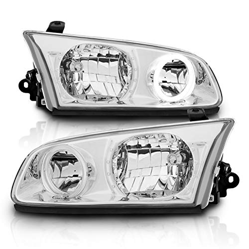 AmeriLite Headlights Halo Black for Toyota Camry - Passenger and Driver Side ()