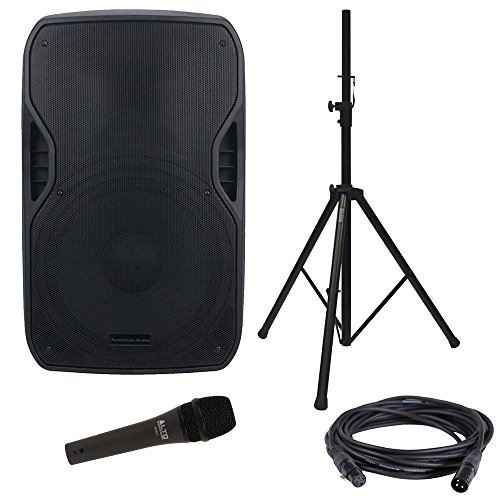 American Audio ELS-GO 15BT Battery-Powered Speaker & Stand w/Vocal Microphone