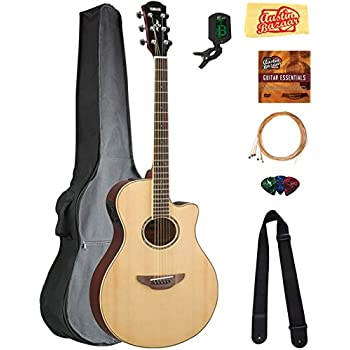 yamaha apx600 thin body acoustic electric guitar natural bundle with gig bag. Black Bedroom Furniture Sets. Home Design Ideas