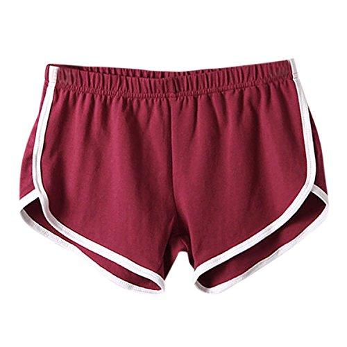 Fintess Printemps Bordeaux Pantalon Short Imprim Fille Gym Mini Plage Pant Et Hot Collant Rayures Casual Femme Lisli Sport RZqwBZx