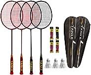 N\\A 7U 67g Badminton Racquet Super Light Racket Set 2 Pack/4 Pack, Full Carbon Fiber Badminton Rackets for Ba