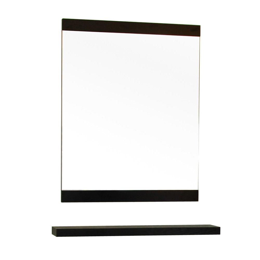 Bellaterra Home 804353-MIRROR 23.6-Inch Mirror, Black, Wood