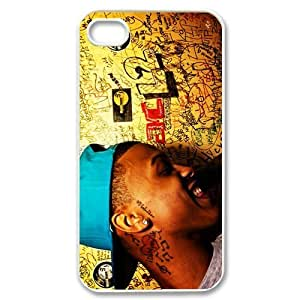 CTSLR August Alsina Hard Case Cover Skin for Apple iPhone 4/4s- 1 Pack - Black/White - 5
