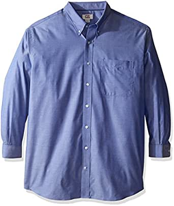 Cutter & Buck Men's Big-Tall Epic Easy Care Royal Oxford Shirt, French Blue, Large/Tall