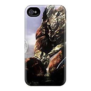 Hot JaT7307FOXa Dark Souls Demon Tpu Case Cover Compatible With Iphone 4/4s