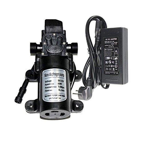 EONBON 12V 60W 5L/min Fresh Water Pressure Self Priming Sprayer Pump, Water Pressure Diaphragm Pump DC 12V Self Priming Pump for RV Caravan Camper Marine Boat Lawn ()