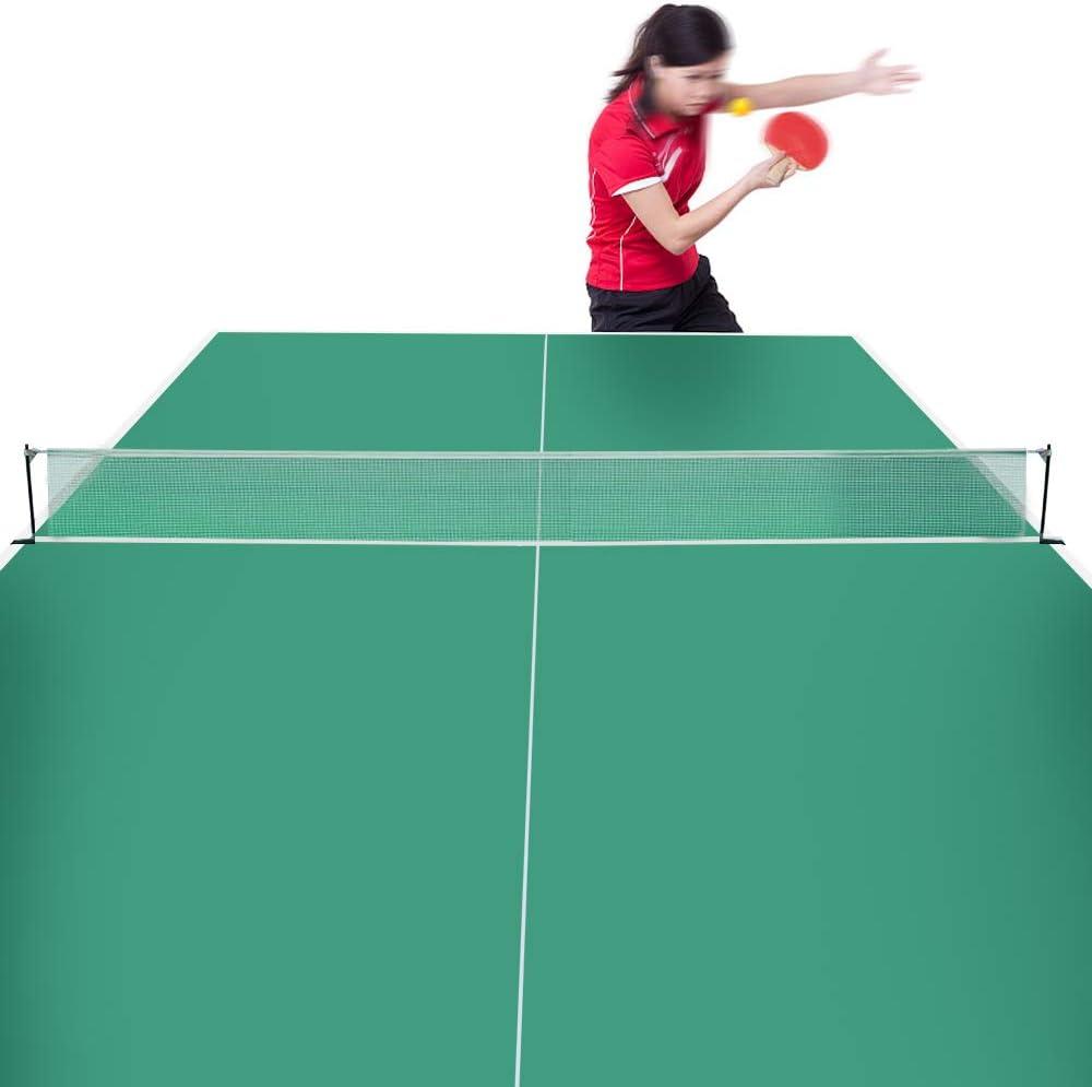 Festnight Set de Tennis de Table Filet de Tennis de Table avec 2 balles de ping Pong