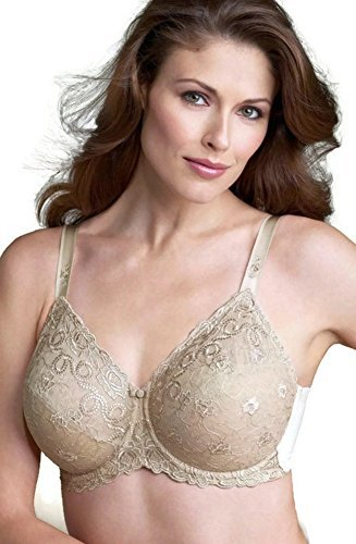 Wacoal Women's Renaissance Rose Embroidered Underwire Bra, Buff, 38DD