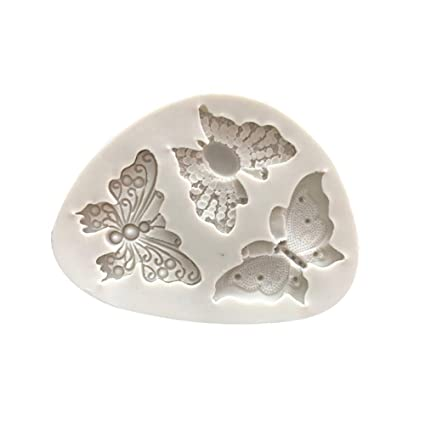 Gessppo Cake Mold Butterfly Shape Silicone Mould Fondant Decorating Bakeware for Bread Chocolate Cookie Jelly Biscuit