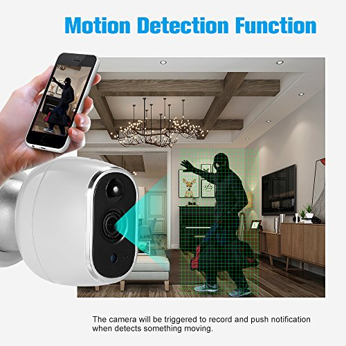 OWSOO Wireless Security IP Camera Pet/Baby/Parents/Home Monitor 960P 1.3 Megapixel WiFi Camera 2-way Audio & Night Vision Phone APP Motion Detection Security Camera by OWSOO (Image #3)
