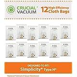 12PK Simplicity Cloth H Bags, Fits Riccar 1500