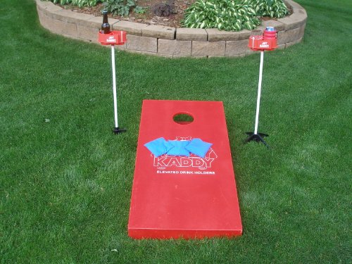 JDT Kaddy Elevated Drink Holders (Set of Two) - Comes with both ground stakes and hard surface stands. Great for outdoor games. by JDT HARRIS INC (Image #3)