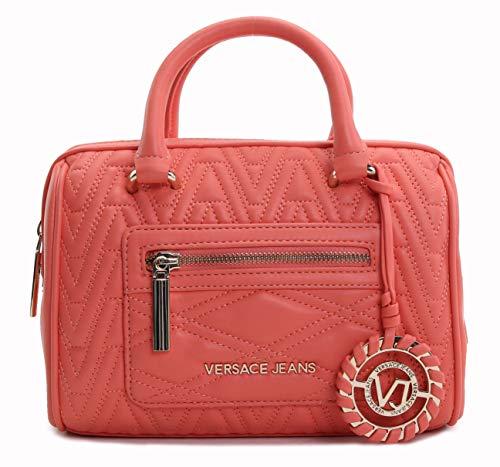 (Versace Jeans Women's Chevron-Quilted Satchel No Size (Corallo))