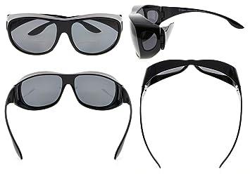 5b3a9cc2ec Eyekepper gafas de sol bifocales polarizadas de gran tamaño fitover  policarbonato polarizado lentes para usar sobre gafas regulares (Negro/Gris  Lenses, ...