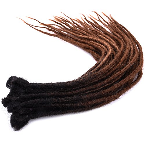 Silike 24 New Handmade DreadLocks Crochet Braids (6-8 G/Root, 4 Roots) New Material Faux Locs Crochet Hair Dreads Softlock For Dancing For Party (DL15)