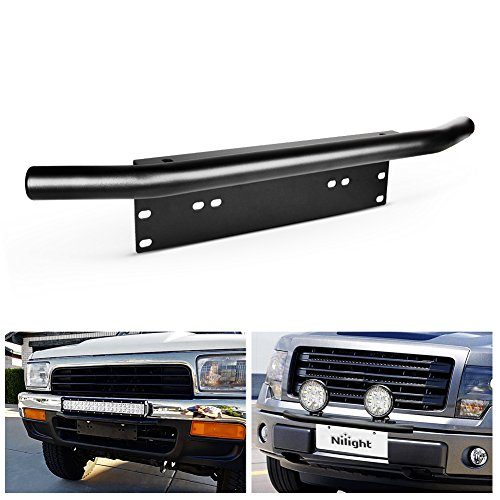 - Nilight Led Light Bar Mounting Bracket Front License Plate Frame Bracket License Plate Mounting Bracket Holder for Off-Road Lights LED Work Lamps Lighting Bars,2 Years Warranty