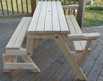 Convertible Bench And Picnic Table Amazon Co Uk Garden Outdoors
