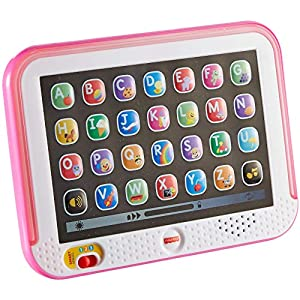 Fisher-Price Laugh & Learn Smart Stages Tablet – Pink, Electronic Learning Toy with Music