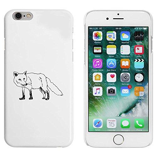 Weiß 'Stehender Fuchs' Hülle für iPhone 6 u. 6s (MC00037070)