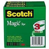 Scotch - Magic Tape, 1'' x 2592'', 3'' Core - 3/Pack