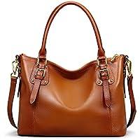 BIG SALE-AINIMOER Women's Large Leather Vintage Shoulder Bags Handbags Ladies Top handle Purse Cross Body Bag
