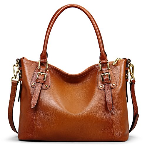big-sale-ainimoer-womens-large-genuine-leather-vintage-shoulder-handbags-ladies-top-handle-purse-cro