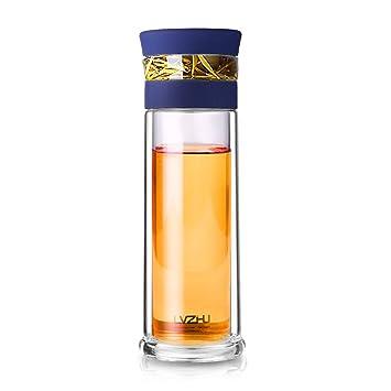 """""""goodeserve 13 oz botella de agua con infusor de té, bolsa de portátil"""