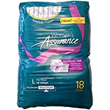 Assurance for Women Maximum Absorbency Protective Underwear with Comfort Shape, Large, 18-Count