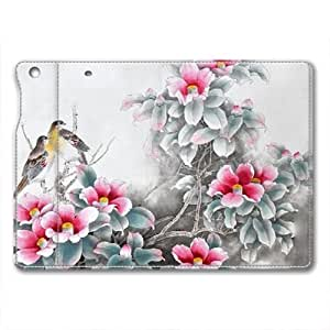 IPad Air 1 Case,IPad Air 1 Case,IPad Air 1 retina case ,Oriole on flowers IPad Air 1 retina High-grade leather Cases by icecream design