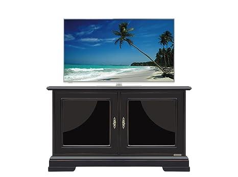 Credenza Con Ante In Vetro : Arteferretto mobile per tv basso colore nero piccola credenza con