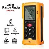 GoerTek Digital Laser Distance Measure Range Finder Meter Measuring Device Tool,Lightweight Tape Diastimeter 0.16(0.05m) to 131ft (40m)