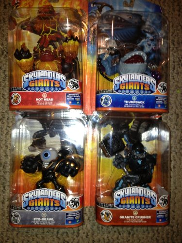 Skylanders Giants Thumpback Eye-brawl Granite Crusher Hothead by