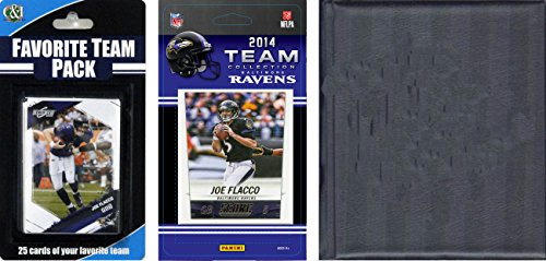 C&I Collectables NFL Baltimore Ravens Licensed Trading Card Team Set with Storage Album from C&I Collectables